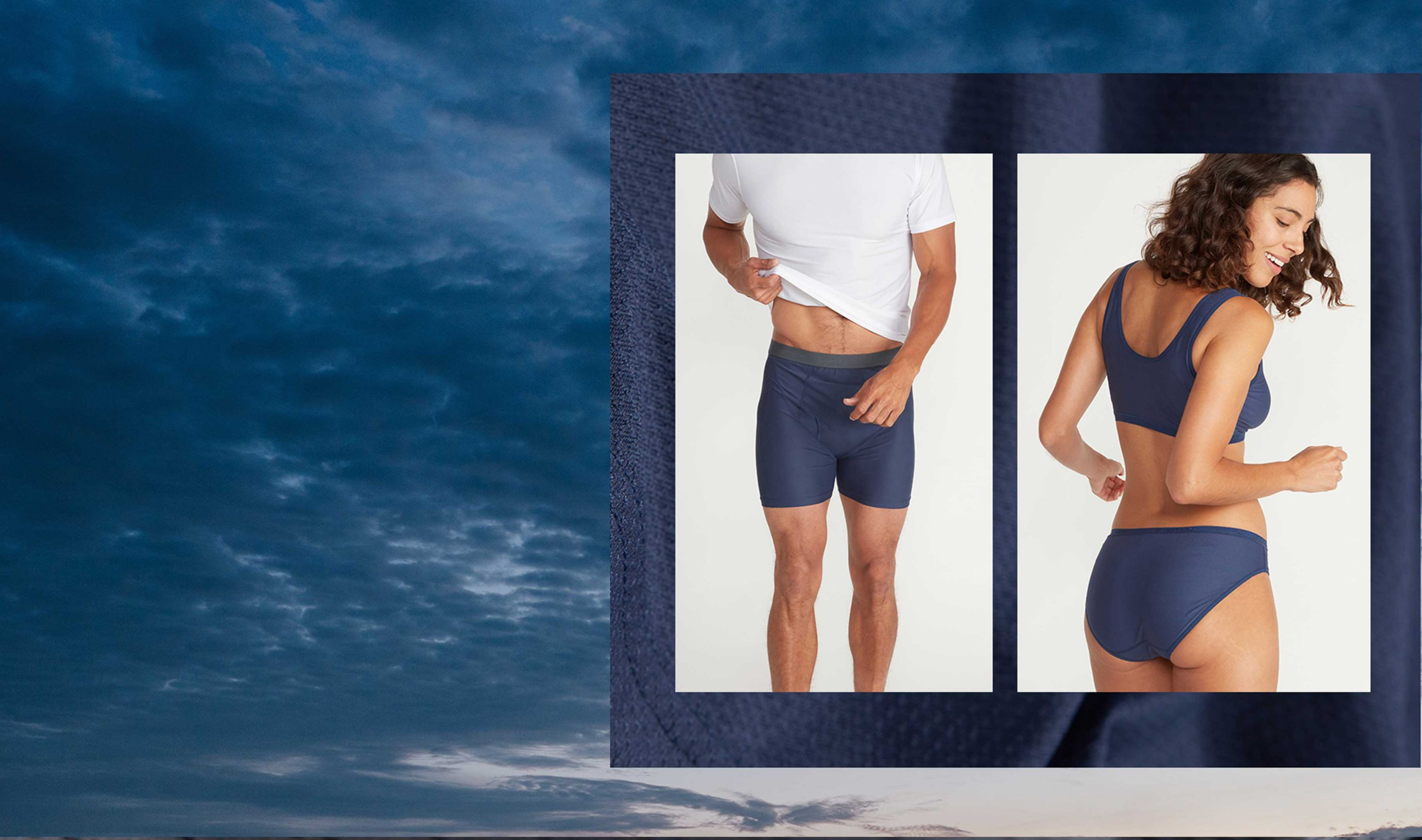 insect repellent & moisture wicking men and women's underwear